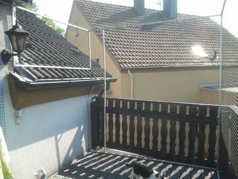 Katzennetz für Terrasse