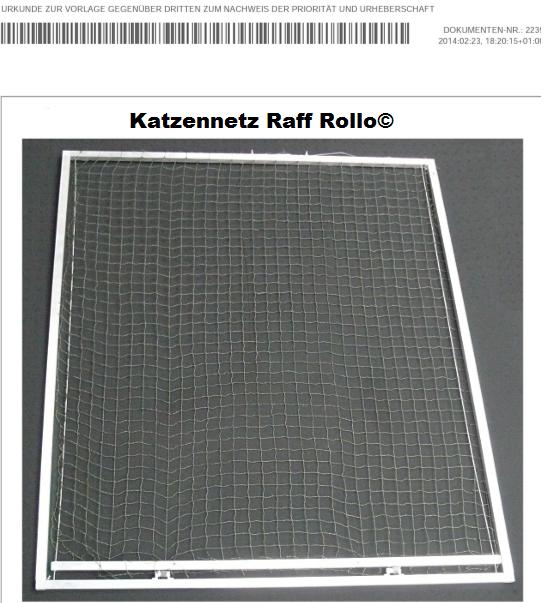 Katzennetz Raff Rollo© für die katzensichere Vernetzung von Dachfenster