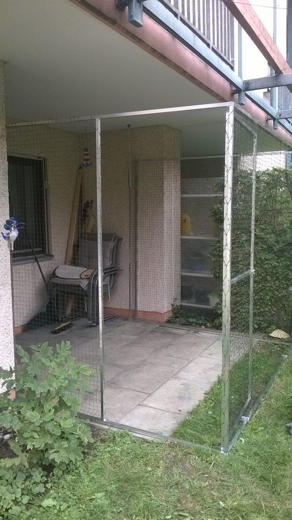 Terrasse mit Katzennetz-System