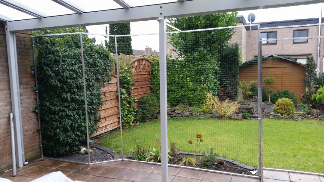 Terrasse als Katzen Freilauf Gehege