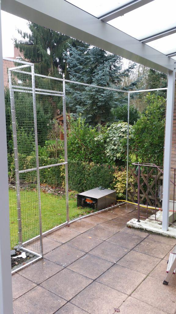 terrasse für Katze sichern