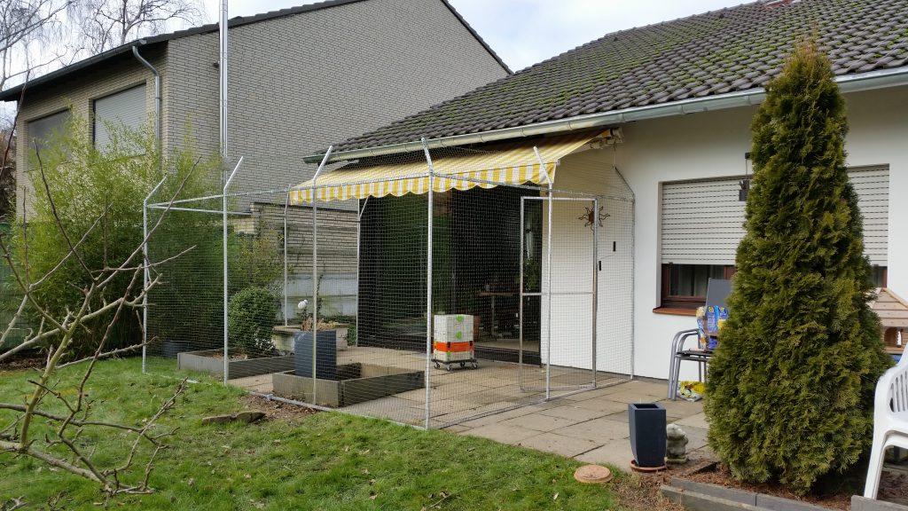 Gartenterrasse Katzennetz Sicherung
