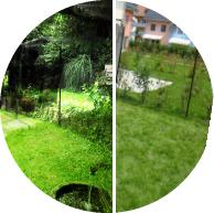 Katzengarten, Katzengehege im Garten