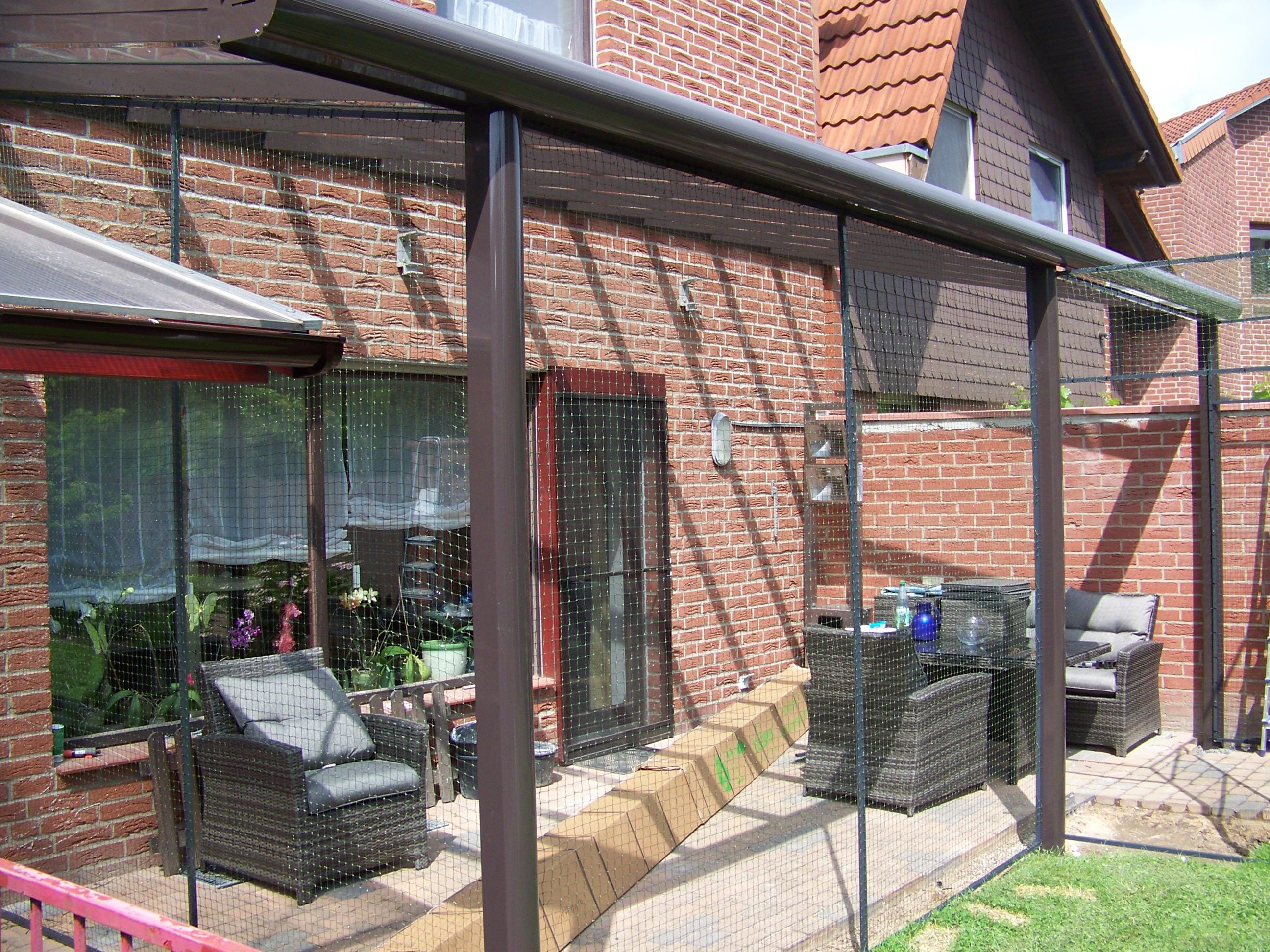 katzengehege auf terrasse in hannover ✓ katzennetz profi